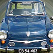 Little Cute  Blue Vintage Princess Austin Car  Art Print