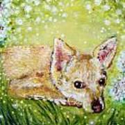 Little Dog Named Fern Art Print