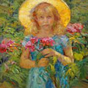 Little Flower Girl Art Print