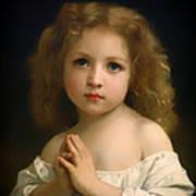 Little Girl And Her Prayer Art Print