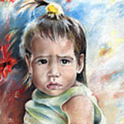 Little Girl From Tahiti Art Print