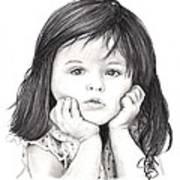 Little Girl Art Print by Rosalinda Markle
