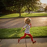 Little Girl Running Art Print