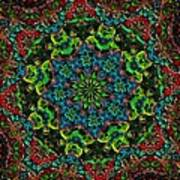 Little Green Men Kaleidoscope Art Print