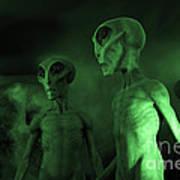Aliens And Ufo 6 Art Print