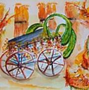 Little Harvest Wagon Art Print