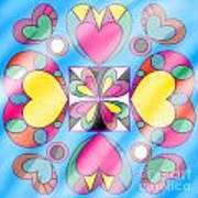 Little Hearts-5 Art Print