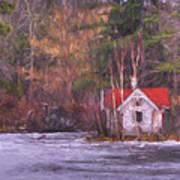 Little House On The Lake Art Print
