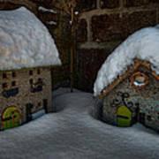 Little Houses Big Snow Art Print
