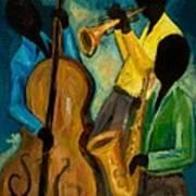 Little Jazz Trio IIi Art Print