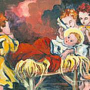 Little Jesus And The Angels Art Print by Elisabeta Hermann