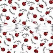 Little Ladybug Treats Art Print