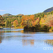 Little Long Pond And Bubbles Mount Desert Island Maine Art Print