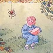 Little Miss Muffet Art Print by Leonard Leslie Brooke