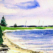Watch Hill Cove Art Print by Joan Hartenstein