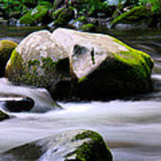 Little Piegon River Gatlinburg Tennessee Art Print