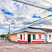 Little Pulperia On The Corner - Costa Rica Art Print