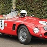 Little Red Ac Bristol Racer Art Print