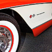 Little Red Corvette Palm Springs Art Print