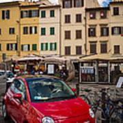 Little Red Fiat Art Print