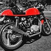 Little Red Racer 001 Art Print