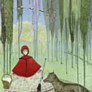 Little Red Riding Hood, Artwork Art Print