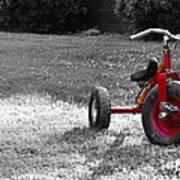 Little Red Trike Art Print