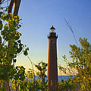 Little Sable Lighthouse Seen Through The Trees Art Print