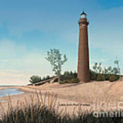 Little Sable Point Lighthouse Titled Art Print