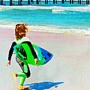 Little Surfer Dude Art Print