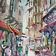 Little Trip At Exotic Streets In Istanbul Art Print