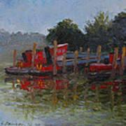 Little Tugs In Holland Michigan Art Print