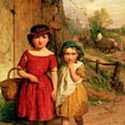Little Villagers Art Print