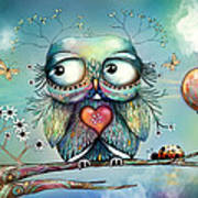 Little Wood Owl Art Print