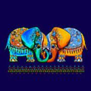 Littlest Elephant Love Links Art Print