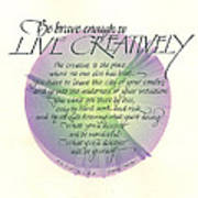 Live Creatively Art Print