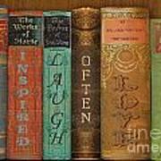 Live-laugh-love-books Art Print