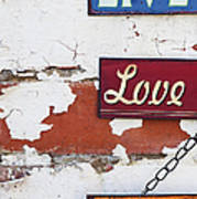 Live Love Laugh Art Print by Tim Gainey