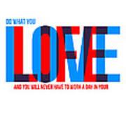 Live Love Poster Art Print