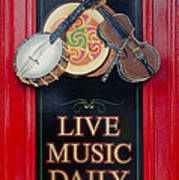 Live Music Daily Art Print