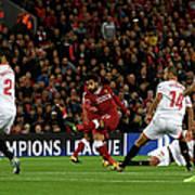 Liverpool FC V Sevilla FC - Uefa Art Print