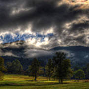 Living In The Clouds Of Western North Carolina Art Print