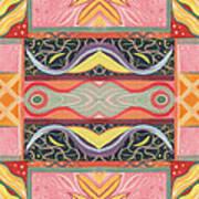 Living In The Pink 1 - Tjod X V I Arrangement Art Print