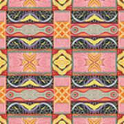 Living In The Pink 2 - Tjod X V I Arrangement Art Print