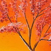 Living Loving Tree Top Right Art Print