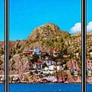 Living On The Edge Of The Battery Painterly Triptych Art Print