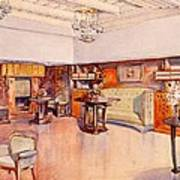 Living Room, 1905 Art Print by Alfred Grenander