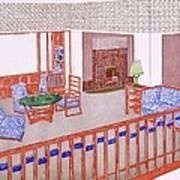 Living Room, Early 1900s Art Print