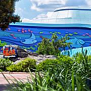 Living Seas Signage Walt Disney World Art Print