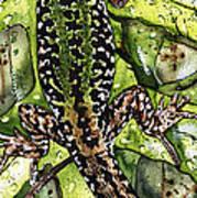 Lizard In Green Nature - Elena Yakubovich Art Print